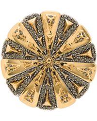 House of Harlow 1960 House Of Harlow Ornamental Medallion Ring - Metallic