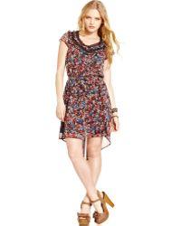 American Rag - Floralprint Highlow Dress - Lyst