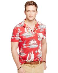 Polo Ralph Lauren Boating-Print Jersey Polo - Lyst