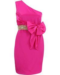 Notte by Marchesa One Shoulder Organza Bow Dress - Lyst
