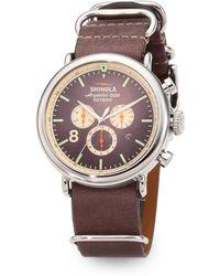 Shinola Runwell Contrast Chronograph Watch - Lyst