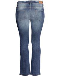 H&M + Bootcut Low Jeans - Blue