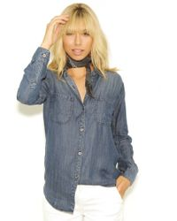 Rails Carter Button Down In Vintage Wash blue - Lyst
