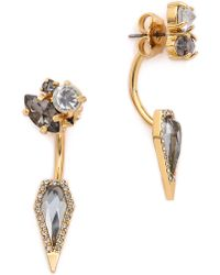 Rebecca Minkoff Clustered Stone Earrings - Black Diamond Crystal - Lyst