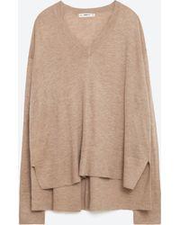 Zara   Oversized Sweater   Lyst