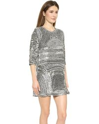 Parker Black Petra Dress - Silver - Lyst