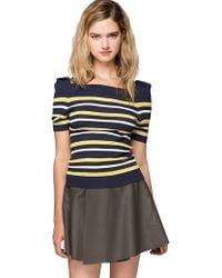 Pixie Market Kylie Striped Sweater - Lyst
