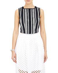 Carven Stripe Tweed Shell - Lyst
