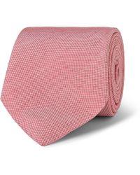 Richard James Silk And Linen-Blend Tie - Pink