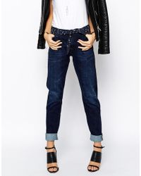 Lee Jeans Sallie Selvage Worn Relaxed Fit Jeans - Blue