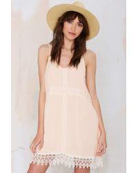 Nasty Gal Lighten Up Crochet Dress beige - Lyst