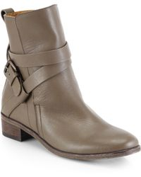 See By Chloé Janis Leather Crisscross Ankle Boots - Lyst