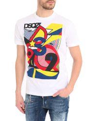 DSquared² White Dsq2 Pop T-Shirt - Lyst