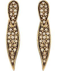 Oscar de la Renta Pave Spike P Earrings - Lyst