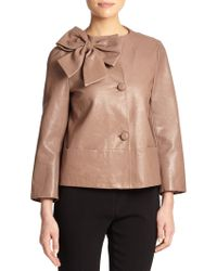 Kate Spade Leather Dorothy Jacket - Lyst