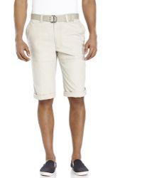 DKNY Ripstop Long Cargo Shorts - Lyst
