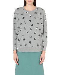Chocoolate - Penguin-print Sweatshirt - For Women - Lyst