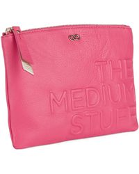Cole Haan Medium Leather Pouch - Lyst