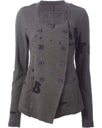 Rundholz - Raw-Edge Double-Breasted Jacket - Lyst