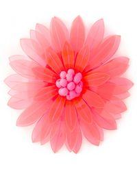 Issa Azalea Neon Pink Flower Brooch - Lyst