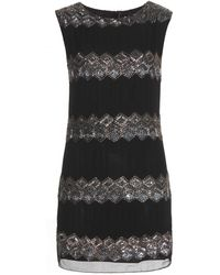 Alice + Olivia Gina Embellished Silk Dress - Lyst