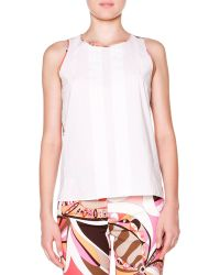 Emilio Pucci Sleeveless Top W Printed Back - Lyst