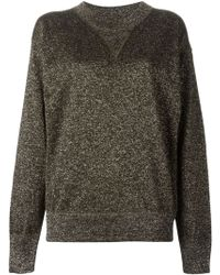 Isabel Marant Brown Glitter Sweatshirt - Lyst