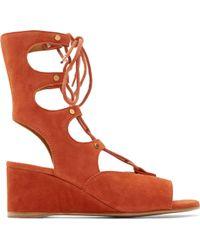 Chloé Sienna Suede Wedge Gladiator Sandals - Lyst