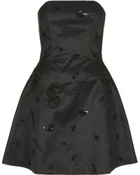 Topshop Womens Strapless Sequin Mini Dress by Unique  Nearly Black - Lyst