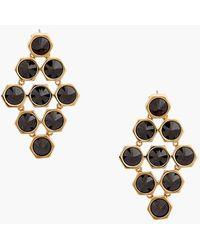 Rachel Zoe 'Cleo' Spike Drop Earrings - Hematite/ Gold - Lyst