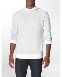 Calvin Klein Jeans Slim Fit Reverse Pattern Pullover Hoodie - Lyst