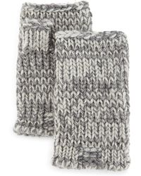 Portolano | Marled Chunky Fingerless Gloves | Lyst
