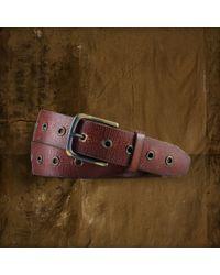 Denim & Supply Ralph Lauren - Grommet-Trim Leather Belt - Lyst