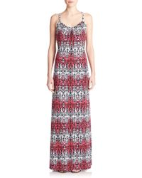 Tart Collections Printed Low-Cut Maxi Dress - Lyst
