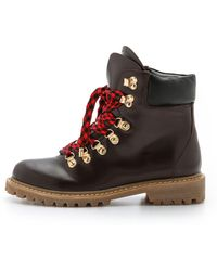 Joie Norfolk Hiker Boots - Black - Brown