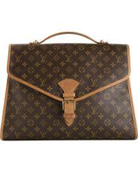 Louis Vuitton Vintage 'Beverly Gm' Briefcase - Brown