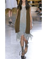 Rick Owens Frilled Shorts in Acqua Tulle - Lyst