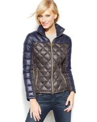 Michael Kors Michael Packable Quilted Down Puffer Coat - Lyst