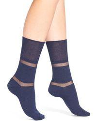 Elie Tahari - Shadow Stripe Ankle Socks - Lyst