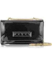 Valentino Va Va Voom Black Patent Leather Shoulder Bag - Lyst