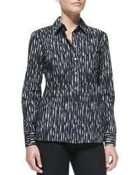 Michael Kors Mini Ikat Poplin Shirt - Lyst