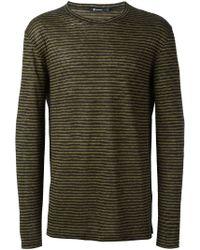 T By Alexander Wang - Longsleeved Striped T-shirt - Lyst
