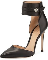 Gianvito Rossi Leather Anklewrap Pump - Lyst