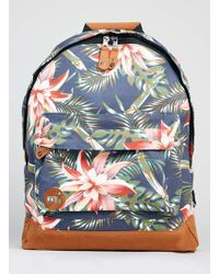 TOPMAN - Mi-pac Navy Floral Backpack* - Lyst