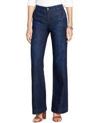 Ralph lauren Lauren Wide Leg Jeans in Blue | Lyst