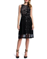 Cynthia Steffe Sleeveless Printed Dress W Pleated Skirt - Lyst