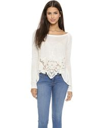 Free People Thats Amore Tee - Eggshell - Lyst