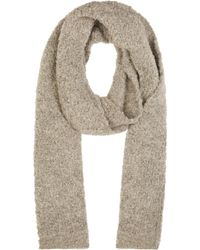 Damir Doma Gray Wool Boucle Knit Scarf - Lyst