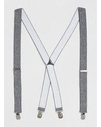 Topman Grey Marl Braces - Lyst
