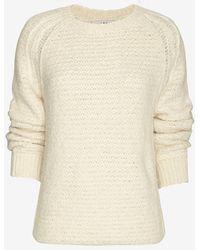 Iro Woven Sweater Ivory - Lyst